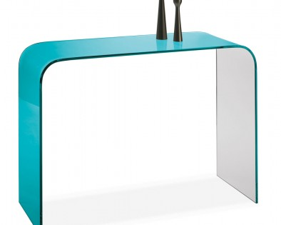 Console Manhattan bleue turquoise