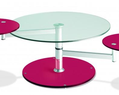 Table basse Manhattan framboise
